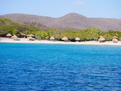 Stranden spotten kust van curacao