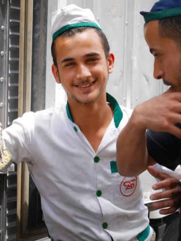 Taartenverkopers in Amman