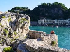Taormina kust sicilie