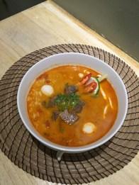 Thai Noodle soup eten in Tainan