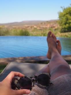Bushmans kloof vakantiehuis zwembad