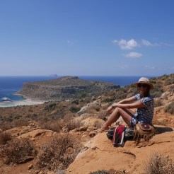 Uitzicht balos beach kreta