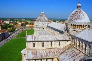 Uitzicht vanaf de toren van Pisa