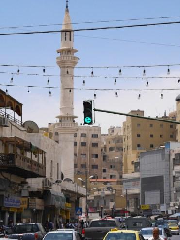 Verkeer in Amman jordanie