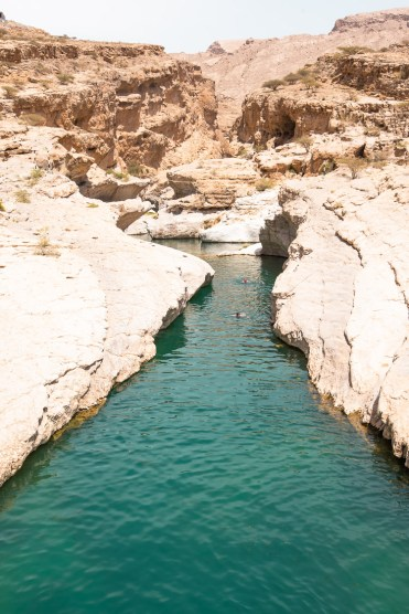Wadi Shab zwemmen Oman