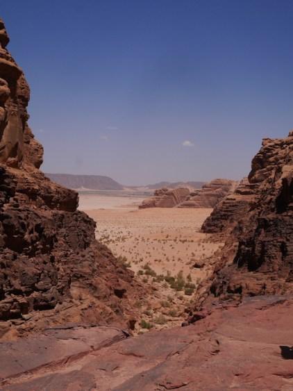 Wadi rum woestijn viewpoint