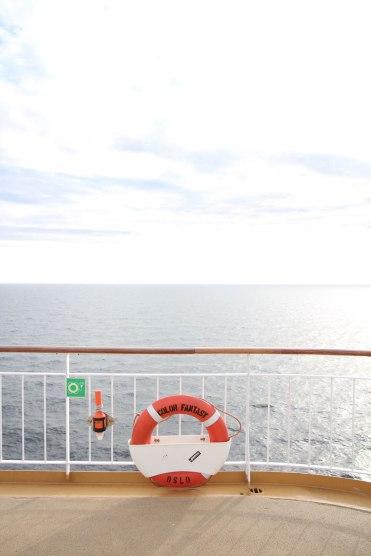 color line naar noorwegen Boot uitzicht