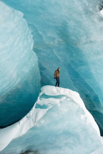 ice cave canada winter