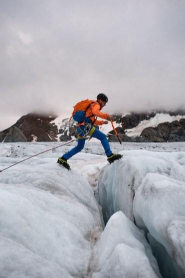 ijs klimmen zwitserse alpen