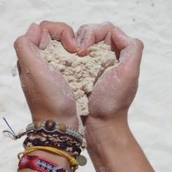 liefde mexico isla mujeres strand zand