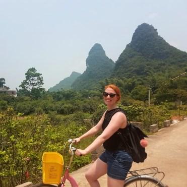 op de fiets in china backpacken floor