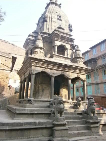 Tempel gebouw in Kathmandu