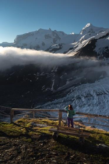 uitzicht in zwitserse alpen