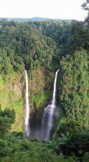 watervallen in laos