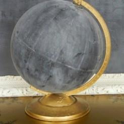 Wereldbol krijtbord