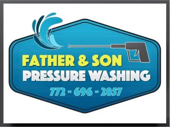 father & sone pressure washing