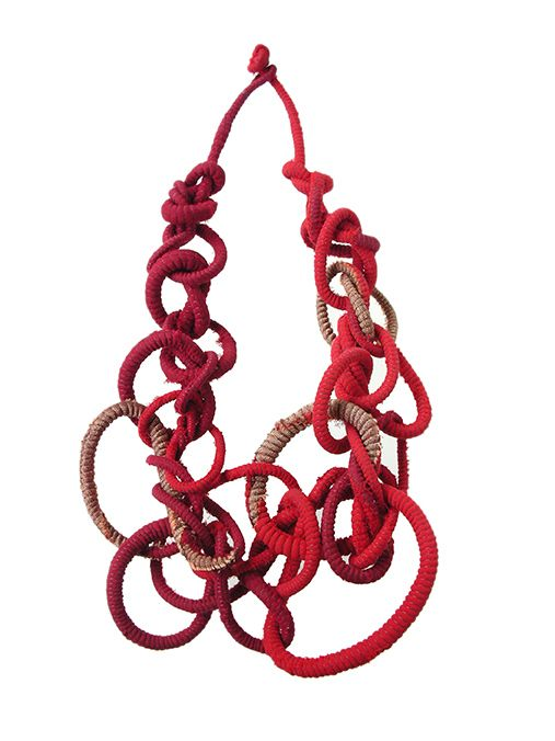 Tanvi Kant, textile necklace
