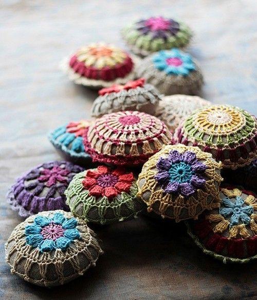 Colourful pin cushions