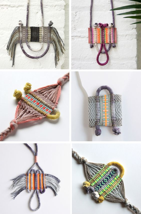 Lesh-studio handwoven necklaces