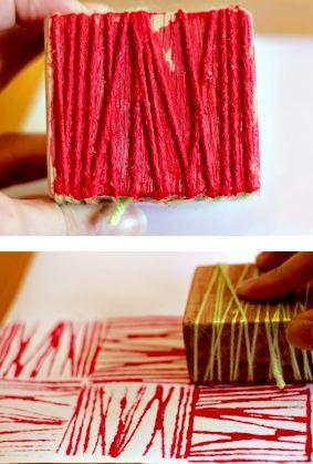 yarn block printing
