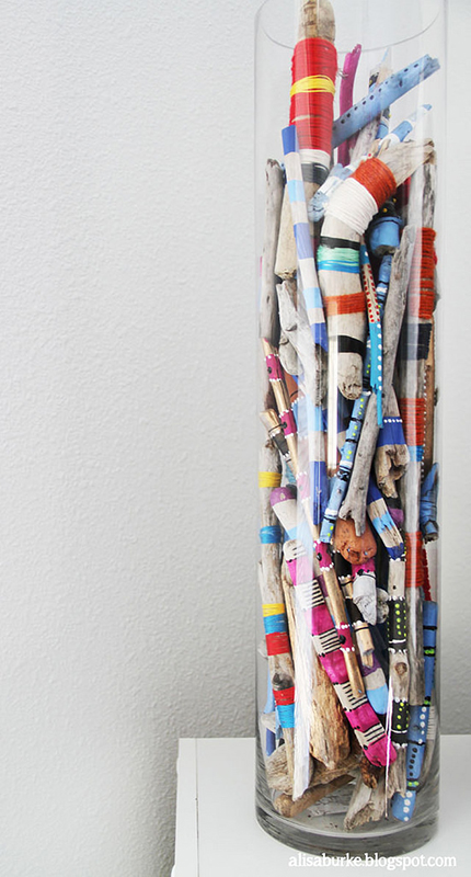 alisa burke-yarn stick vase