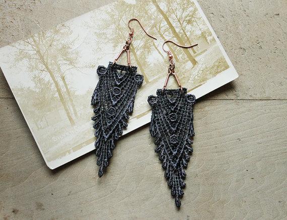 white owl lace earrings 02