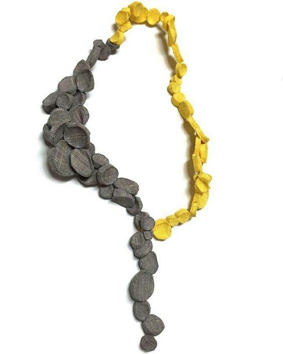 mina kang necklace grey yellow