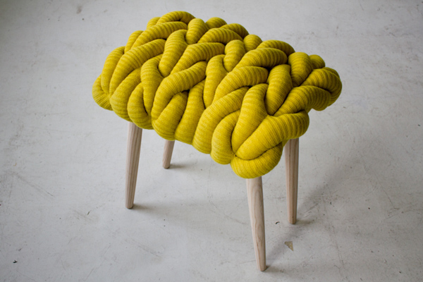 Claire-Anne O'Brien stool yellow