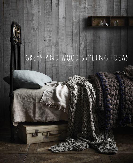 Greys and wood deco styling ideas