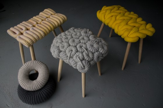 Claire-Anne O'Brien knitting stools