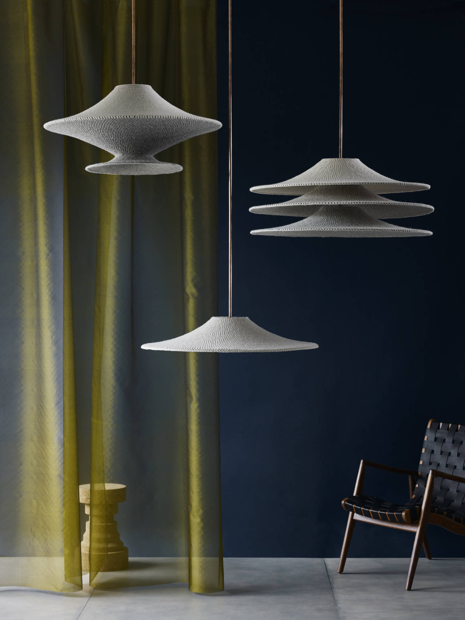 Naomi Paul lighting wool shade collection