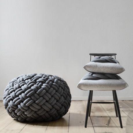 chunky knotted pouf