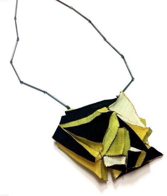 mina kang necklace black and yellow