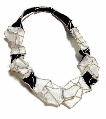 mina kang necklace black and white