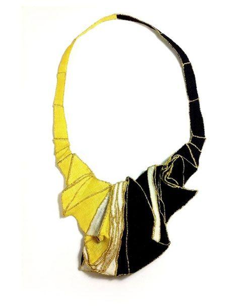 mina kang necklace black-yellow
