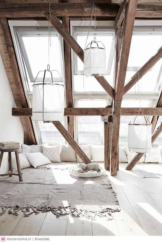 greys and wood interior