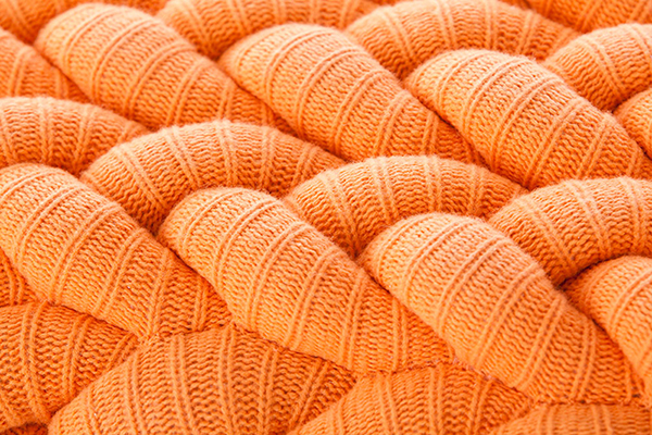 Claire-Anne O'Brien knitted detail orange
