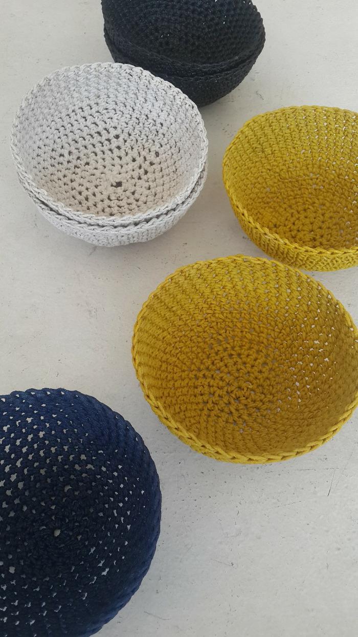 Moon basket design chunky bowls colour