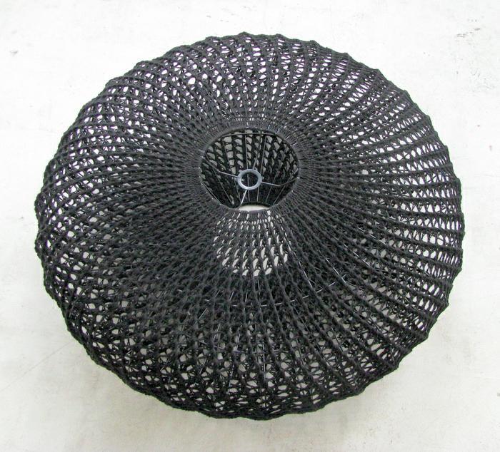Moonbasket design black spiral light