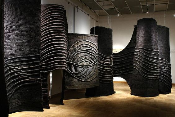 Jagoda Buic black sculptures