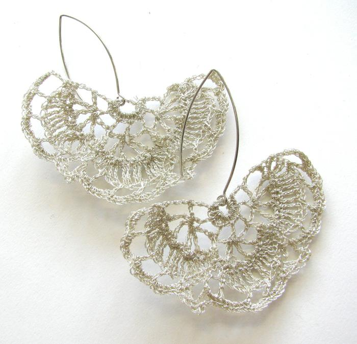 Moonbasket jewellery white earrings
