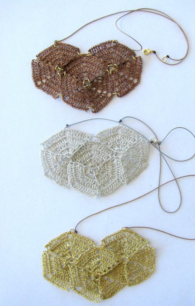 Moonbasket jewellery metallic deco necklaces
