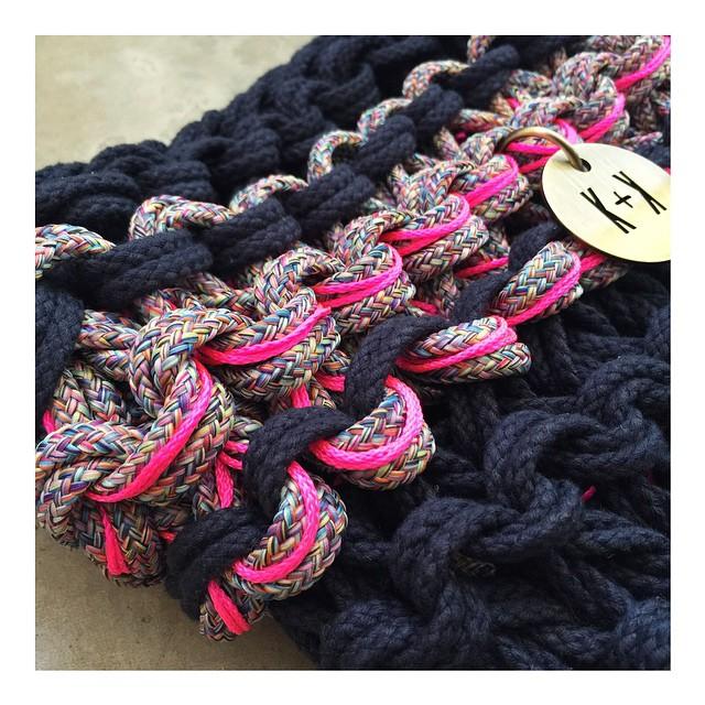 Knots & Knits rope bag detail