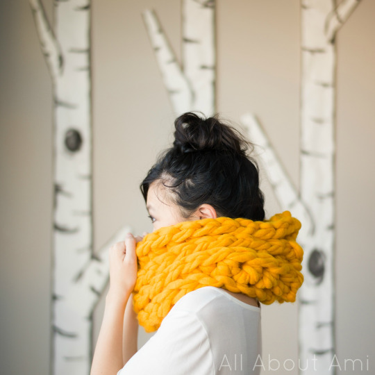 All about Ami jumbo triple luxe cowl pattern