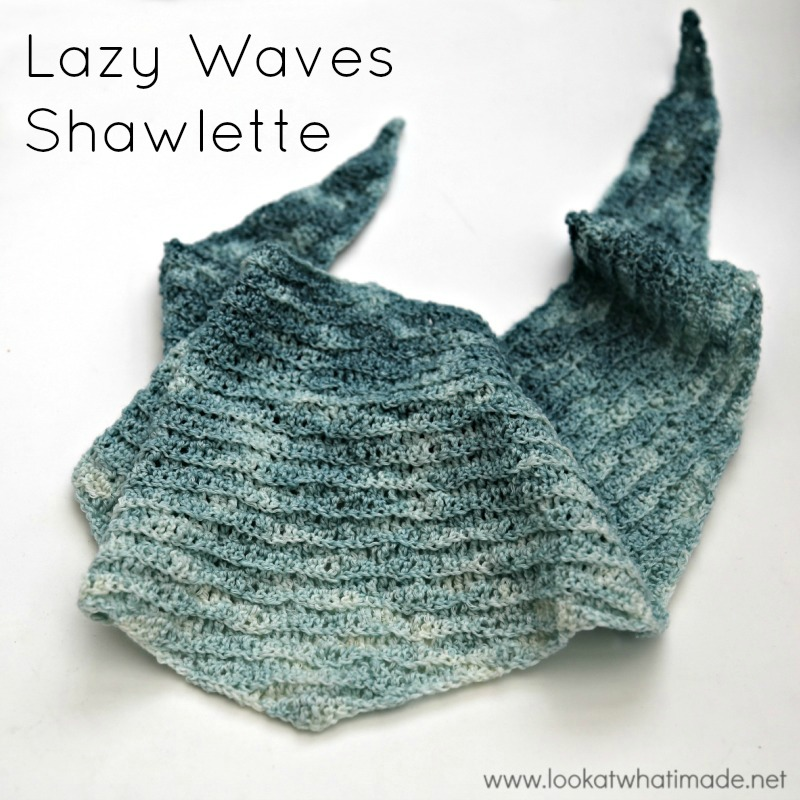 Look at what i made lazy waves shawlette