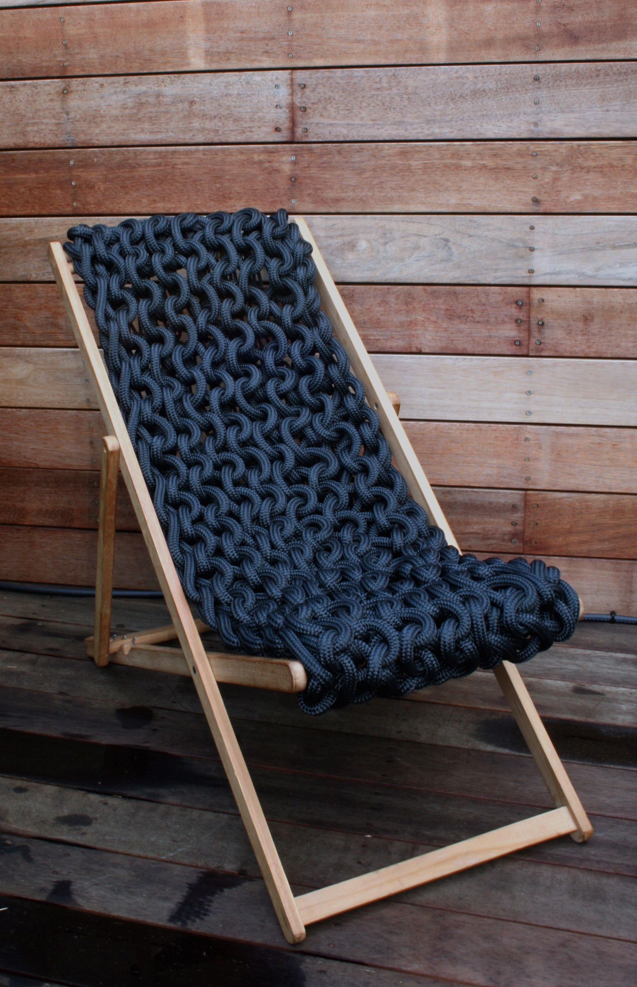 thread architecture rope deck chair