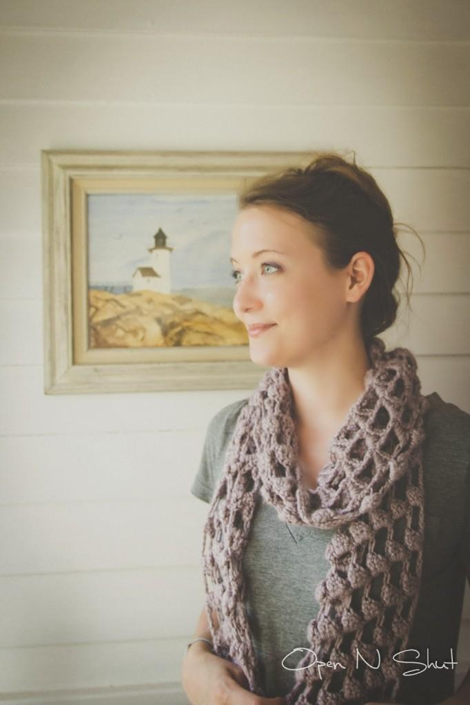 margoknits triangle crochet scarf