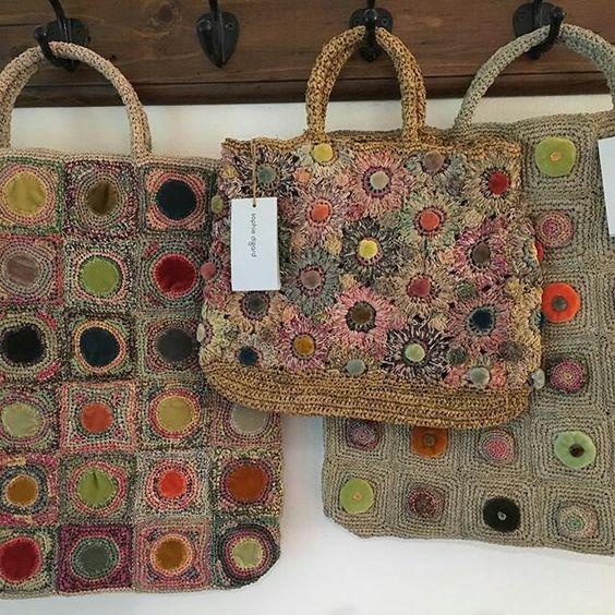 Sophie Digard crochet and velvet bag