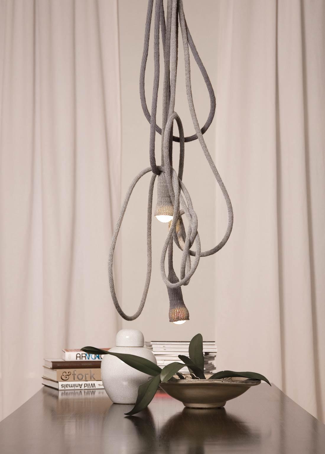 LLOT LLOV design studio knitted lights