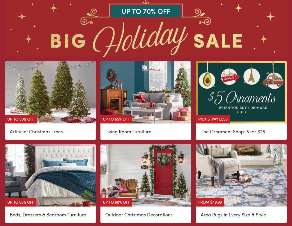 Wayfair Big Holiday Sale Up To 70 Off 5 Ornaments